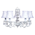Flower Petal White Glass Turret Chandelier