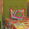 Square Tufted Upholstered Headboard, Childrens Beds | Girls Twin Bed | ABaby.com