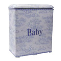 Blue Toile Baby Hamper, Kids Shelves | Baby Wall Shelves | Nursery Storage | ABaby.com