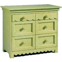 Scalloped 6 Drawer Chest, Children's Dressers | Kids | ABaby.Com