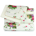 Ivory Floral Printed Sheet Set, Little Girls Twin Bedding Sets | Twin Bedding Collection | aBaby.com