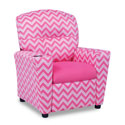 Izzy Pink Kids Recliner, Kids Upholstered Chairs | Personalized Toddler Couch | Rocker | Recliner