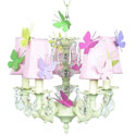 Butterfly 5-Arm Chandelier, Nursery Lighting | Kids Floor Lamps | ABaby.com