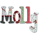 Molly's Garden Wall Letters, Wall Letter Decals | Custom Baby Name Letters for Nursery Wall