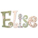 Elise's Dresses Wall Letters, Tea Party Nursery Decor | Tea Party Wall Decals | ABaby.com