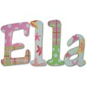 Ella's Tropics Wall Letters, Tropical Sea Nursery Decor | Tropical Sea Wall Decals | ABaby.com