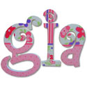 Gia Curlz Wall Letters, Customized Wall Letters | Childrens Wall Letters | ABaby.com