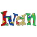 Ivan's Trucks Wall Letters, Customized Wall Letters | Childrens Wall Letters | ABaby.com