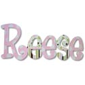 Reese's Patterns Wall Letters, Girls Wall Letters | Kids Wall Letters For Nursery | ABaby.com