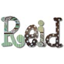 Reid's Paisely Wall Letters, Wall Letter Decals | Custom Baby Name Letters for Nursery Wall