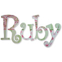 Ruby's Paisley Wall Letters, Girls Wall Letters | Kids Wall Letters For Nursery | ABaby.com