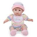 Personalized Huggable Soft Body Blonde Doll, Baby Doll Furniture Set | Doll Beds | High Chair | Cradle | Armoire