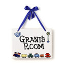 Conductor Name Plaque, Train And Cars Themed Nursery | Train Bedding | ABaby.com