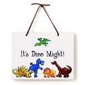 Dino Just Because Plaque, Name Wall Plaques | Baby Name Plaques | Kids Name Plaques
