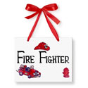 Fire Fighter Just Because Plaque, Name Wall Plaques | Baby Name Plaques | Kids Name Plaques