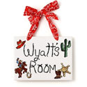 Buckaroo Name Plaque, Wild West Nursery Decor | Wild West Wall Decals | ABaby.com