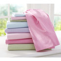 Jersey Knit Gingham Portable Crib Sheet