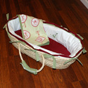 Antique Embroidered Moses Basket, Moses Baskets | Wicker Moses Basket | Baby | ABaby.com