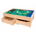 Train Table In Natural, Personalized Kids Toys | Baby Toys | ABaby.com