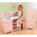 Pink Retro Kitchen, Kids Play Kitchen Sets | Childrens Play Kitchens | ABaby.com