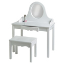 Vanity and Bench Set, Kids Vanities | Girls Kids Vanity Set | ABaby.com