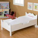 Personalized Scalloped Toddler Bed, Toddler Beds | Portable Toddler Bed | ABaby.com