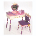Princess Vanity Table & Chair Set, Princess Themed Nursery | Girls Princess Bedding | ABaby.com