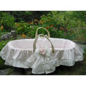 Roses Moses Basket, Baby Baskets For Girls | Girls Moses Baskets | ABaby.com