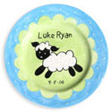 Little Lamb Birth Plate, Nursery Rhymes Themed Nursery | Nursery Rhymes Bedding | ABaby.com