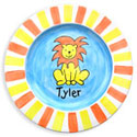 Lion Name Plate, Circus Fun Nursery Decor | Circus Fun Wall Decals | ABaby.com
