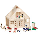 Furnished Doll House, Doll Houses | Playsets | Kids Doll Houses | ABaby.com
