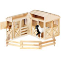 Folding Horse Stable, Wild West, Western, Cowboy Themed Furniture, Decor For Childrens Rooms and Baby's Nursery.