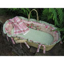 Lil Rose Moses Basket, Moses Baskets | Wicker Moses Basket | Baby | ABaby.com