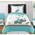 Mod Elephant Twin/Full Bedding Collection, Little Girls Twin Bedding Sets | Twin Bedding Collection | aBaby.com