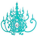 Fancy Chandelier, Kids Bedroom Decor | Clocks | Baby Picture Frames | ABaby.com