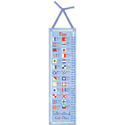 Nautical Flags Personalized Growth Chart