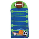 Personalized Sports Nap Mat, Sports Themed Nursery | Crib Bedding | Decor | aBaby.com