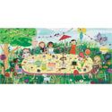 Garden Girls Stretched Art, Canvas Artwork | Kids Canvas Wall Art | ABaby.com