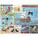 It's a Pirates Life For Me Stretched Canvas, Kids Wall Art | Neutral Wall Decor | Kids Art Work | ABaby.com