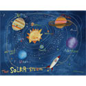 The Solar System Stretched Art, Kids Wall Art | Neutral Wall Decor | Kids Art Work | ABaby.com