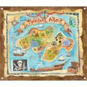 Treasure Map Canvas Art, Kids Wall Art | Neutral Wall Decor | Kids Art Work | ABaby.com