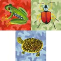 Camo Critters Stretched Art, Kids Nursery Canvas Wall Art - Ababy.Com