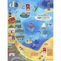 Day At The Bay Stretched Art, Kids Nursery Canvas Wall Art - Ababy.Com