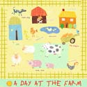 A Day At The Farm Stretched Art, Kids Wall Art | Neutral Wall Decor | Kids Art Work | ABaby.com
