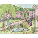 Enchanted Garden Stretched Art, Nursery Wall Art | Fantasy Wall Art | ABaby.com