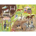 English Horse Show Stretched Art, Kids Nursery Canvas Wall Art - Ababy.Com