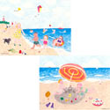 Beach Stretched Art, Canvas Artwork | Kids Canvas Wall Art | ABaby.com