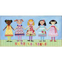 Just Us Girls Stretched Art, Nursery Wall Art | Baby | Wall Art For Kids | ABaby.com