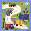 On The Road Again Stretched Art, Train And Cars Themed Nursery | Train Bedding | ABaby.com