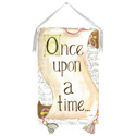 Once Upon a Time - Scroll Stretched Art, Kids Wall Art | Neutral Wall Decor | Kids Art Work | ABaby.com